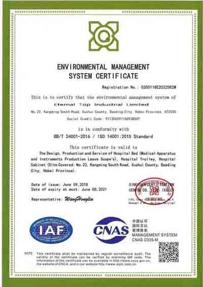 China Eternal Top Industrial Limited Certificaten